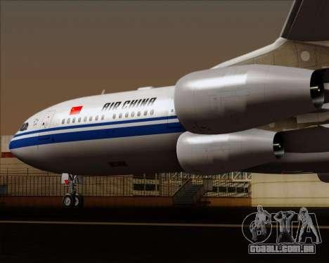 Airbus A340-313 Air China para GTA San Andreas vista inferior