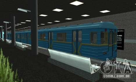 Uma nova estação de metrô de San Fierro para GTA San Andreas segunda tela