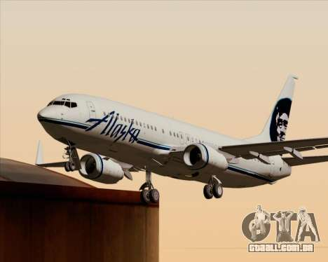 Boeing 737-890 Alaska Airlines para as rodas de GTA San Andreas