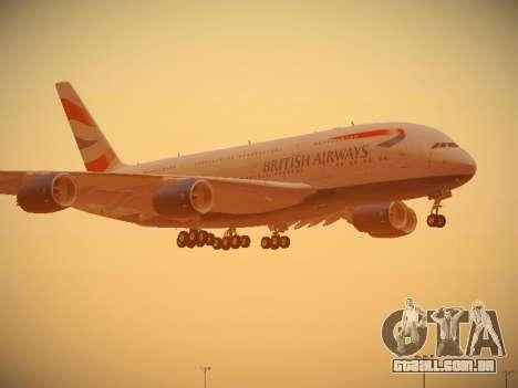 Airbus A380-800 British Airways para as rodas de GTA San Andreas