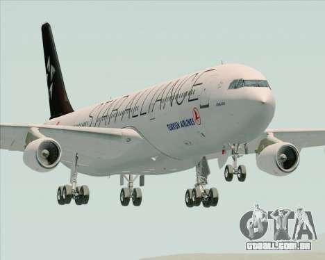 Airbus A340-311 Turkish Airlines (Star Alliance) para GTA San Andreas vista traseira