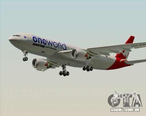 Airbus A330-200 Qantas Oneworld Livery para GTA San Andreas vista direita