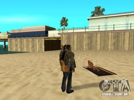 Novos tapetes na praia para GTA San Andreas por diante tela