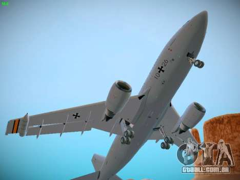 Airbus A310 MRTT Luftwaffe (German Air Force) para GTA San Andreas vista interior
