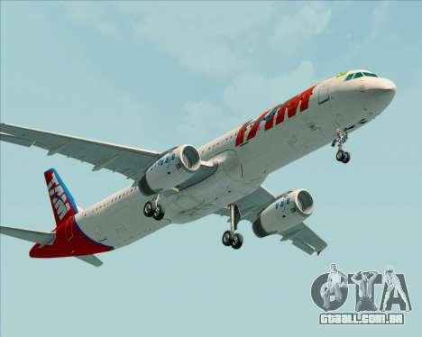 Airbus A321-200 TAM Airlines para GTA San Andreas traseira esquerda vista