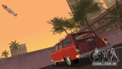 GAZ Volga 22 1965 para GTA Vice City vista traseira esquerda