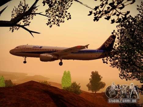 Airbus A320-211 All Nippon Airways para GTA San Andreas interior