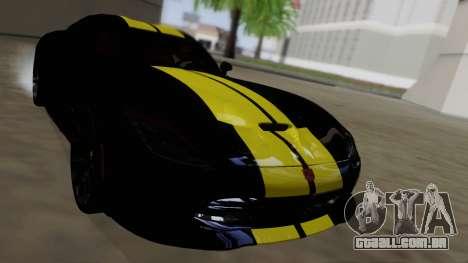 Dodge Viper SRT GTS 2013 Road version para GTA San Andreas vista superior
