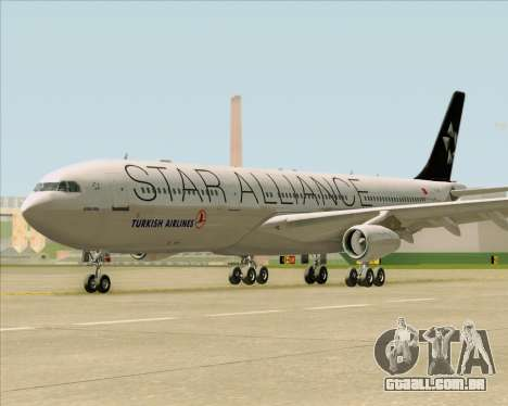 Airbus A340-311 Turkish Airlines (Star Alliance) para GTA San Andreas vista interior