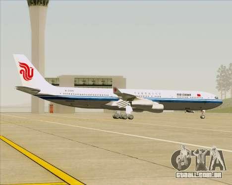 Airbus A340-313 Air China para GTA San Andreas vista interior