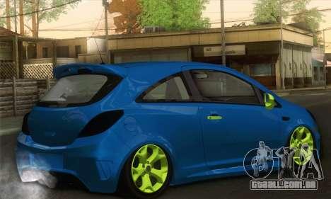 Opel Corsa para GTA San Andreas esquerda vista