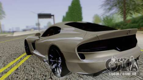 Dodge Viper SRT GTS 2013 Road version para GTA San Andreas esquerda vista