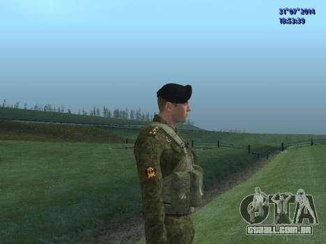 O Oficial Do Corpo De Fuzileiros Navais para GTA San Andreas por diante tela