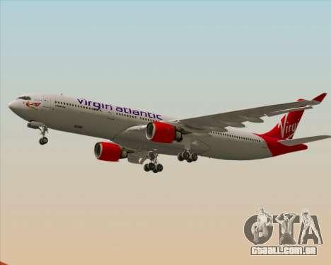Airbus A330-300 Virgin Atlantic Airways para GTA San Andreas vista inferior