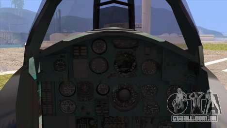 MIG-31 from H.A.W.X. para GTA San Andreas traseira esquerda vista