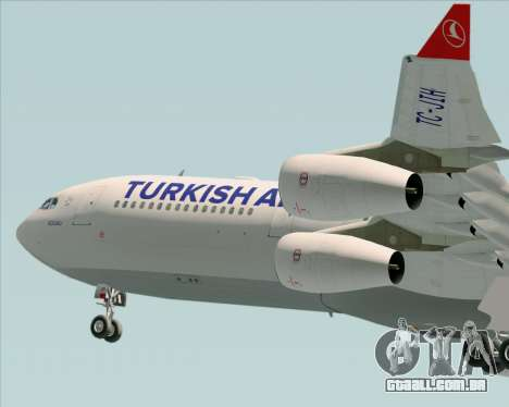 Airbus A340-313 Turkish Airlines para GTA San Andreas vista inferior
