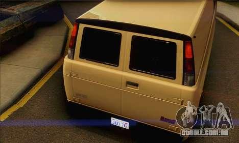 Declasse Burrito from GTA V (IVF) para GTA San Andreas vista direita