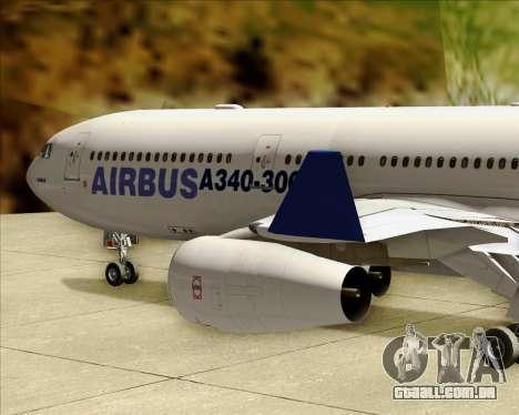 Airbus A340-311 House Colors para GTA San Andreas vista superior