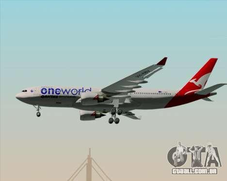 Airbus A330-200 Qantas Oneworld Livery para GTA San Andreas vista inferior