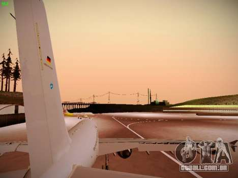 Airbus A310 MRTT Luftwaffe (German Air Force) para GTA San Andreas vista traseira