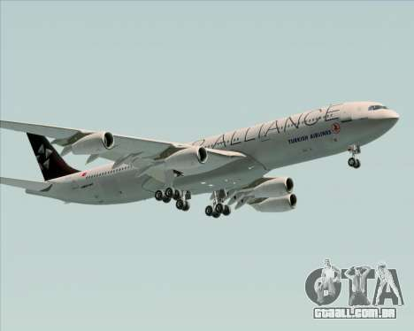 Airbus A340-311 Turkish Airlines (Star Alliance) para GTA San Andreas interior