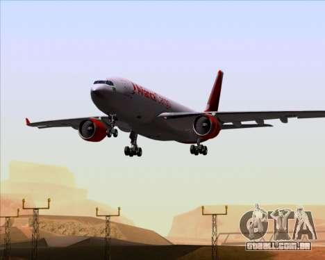 Airbus A330-243F Avianca Cargo para GTA San Andreas vista superior