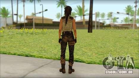 Tomb Raider Skin 15 2013 para GTA San Andreas segunda tela