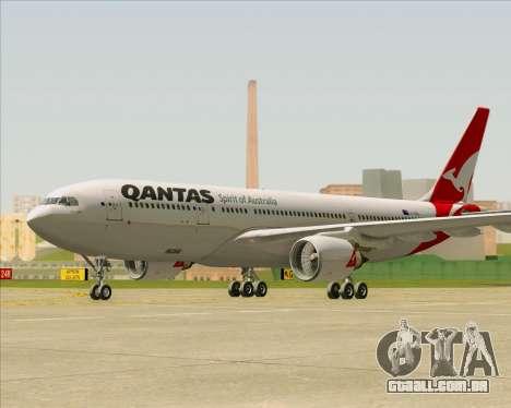 Airbus A330-200 Qantas para GTA San Andreas traseira esquerda vista
