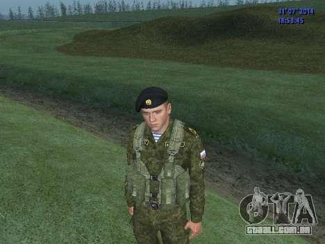 O Oficial Do Corpo De Fuzileiros Navais para GTA San Andreas segunda tela