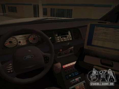 Ford Crown Victoria Toronto Police Service para vista lateral GTA San Andreas