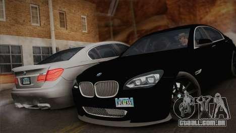BMW F01 750Li 2009 para GTA San Andreas