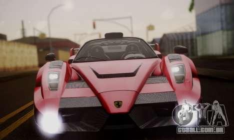 Ferrari Gemballa MIG-U1 para GTA San Andreas vista superior