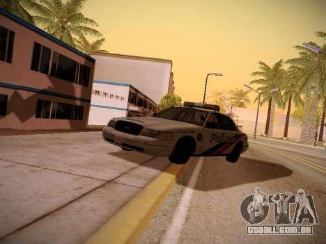 Ford Crown Victoria Toronto Police Service para GTA San Andreas vista traseira