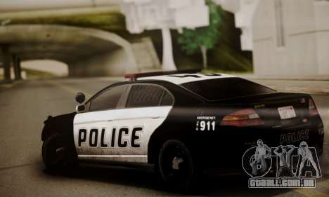 Vapid Police Interceptor from GTA V para GTA San Andreas traseira esquerda vista