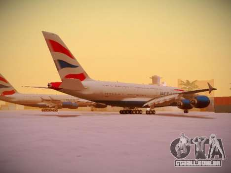 Airbus A380-800 British Airways para GTA San Andreas vista superior