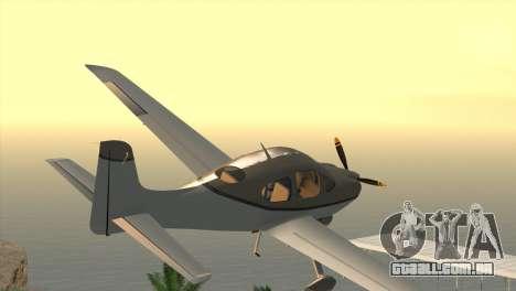 Cirrus SR-22 para GTA San Andreas esquerda vista