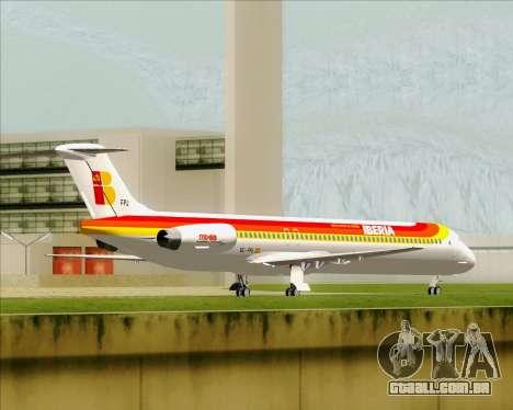 McDonnell Douglas MD-82 Iberia para GTA San Andreas vista traseira