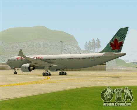 Airbus A330-300 Air Canada para GTA San Andreas vista traseira