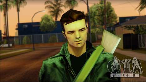 Gun and No Shades Claude para GTA San Andreas terceira tela