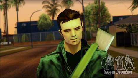 Gun and No Shades Claude para GTA San Andreas terceira tela