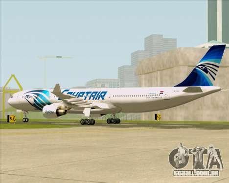 Airbus A330-300 EgyptAir para GTA San Andreas vista direita