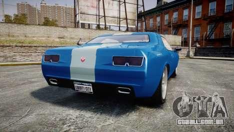 GTA V Bravado Gauntlet para GTA 4 traseira esquerda vista