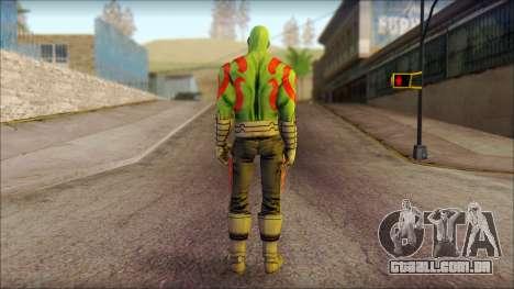 Guardians of the Galaxy Drax para GTA San Andreas segunda tela