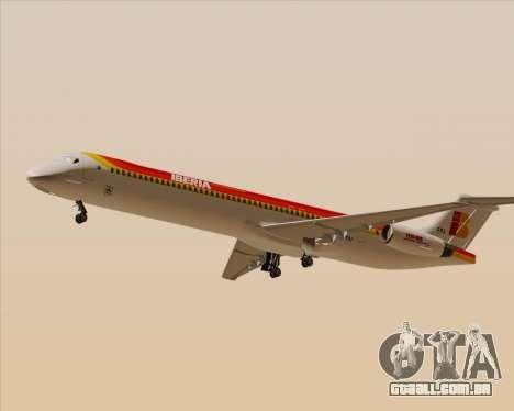 McDonnell Douglas MD-82 Iberia para GTA San Andreas traseira esquerda vista