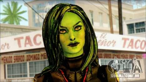 Guardians of the Galaxy Gamora v1 para GTA San Andreas terceira tela