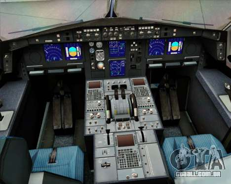 Airbus A330-300 EgyptAir para GTA San Andreas interior