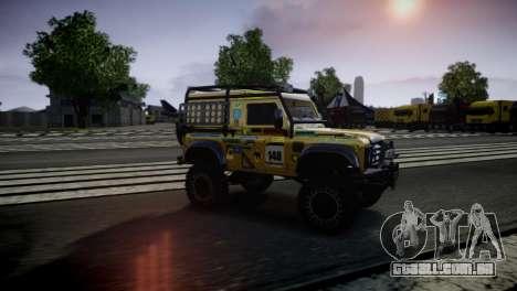 Land Rover Defender para GTA 4 traseira esquerda vista