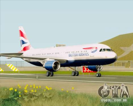 Airbus A320-232 British Airways para GTA San Andreas esquerda vista