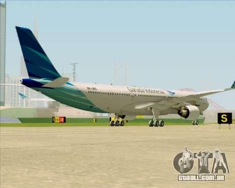 Airbus A330-300 Garuda Indonesia para GTA San Andreas vista direita