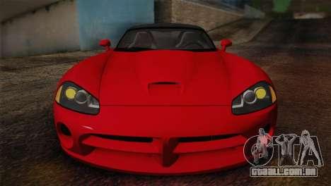Dodge Viper SRT-10 2003 para GTA San Andreas vista direita